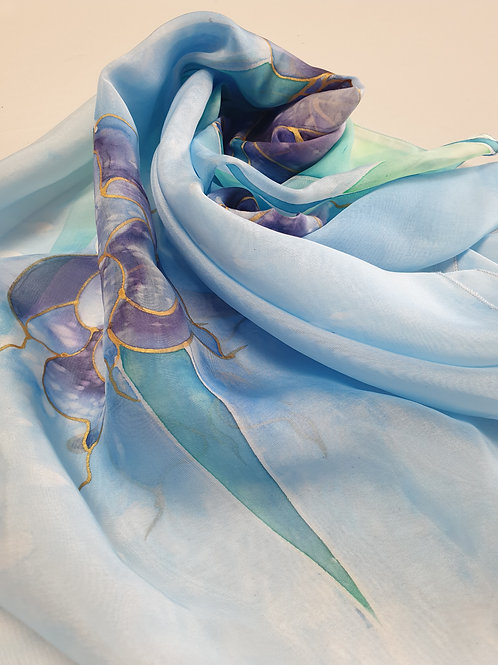 Hand-painted 100% Silk Scarf SC0053