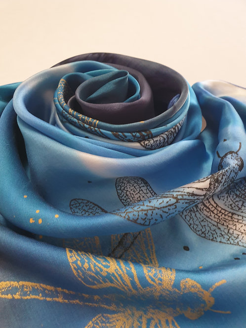 Hand-painted 100% Silk Scarf SC0151