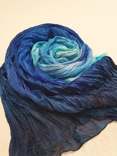 Hand-painted 100% Silk Scarf SC122