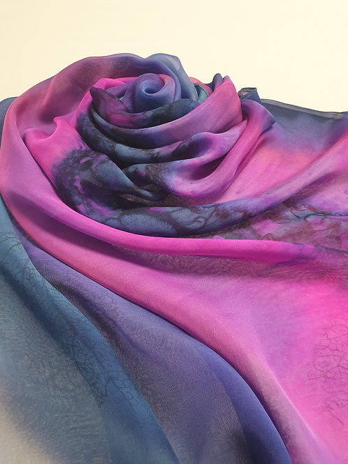 Hand-painted 100% Silk Scarf SC0096