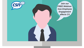 We have a few places left on next week's free CSN CX Webinar: 'How Employee Engagement affec