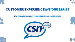 Starting next week! The CSN 'CX Insider Series'...challenges real companies are having with
