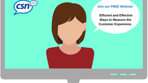 'Efficient and Effective Ways to Measure the Customer Experience' webinar (it's FREE & interactive!)