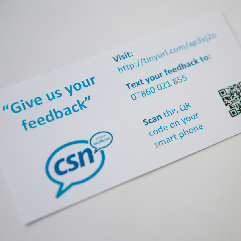 CSN Survey Feedback formats