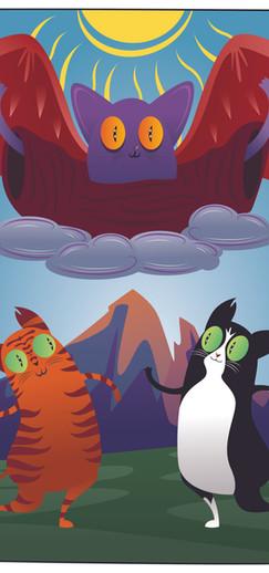 "Tarot Cats - ""The Lovers"""