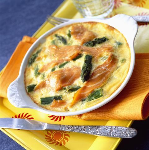 Recette : Flan aux 2 asperges, sauce mousseline ciboulette citron