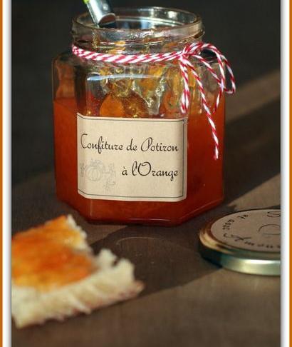 Recette : Confiture de potiron à l'orange