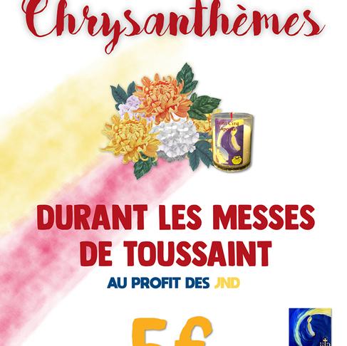 Vente de chrysanthèmes au profit des JND