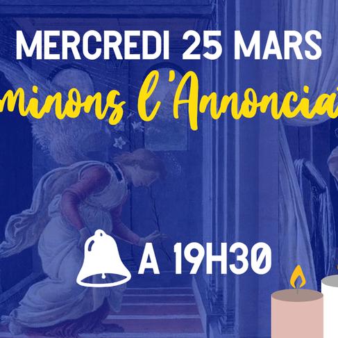 COVID-19 : le 25 mars, illuminons l'Annonciation !