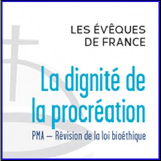DECLARATION DES EVEQUE DE FRANCE - LA DIGNITE DE LA PROCREATION
