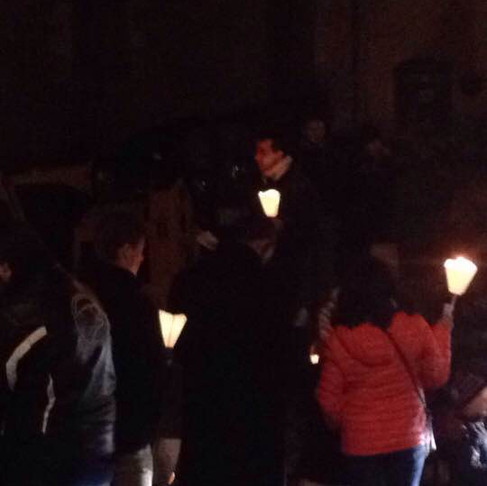 Retraite aux flambeaux à St Cirq Lapopie et soirée bowling