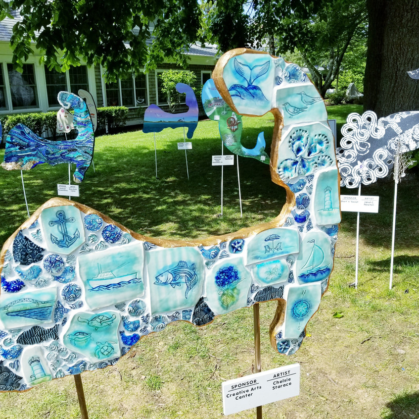 Local art in the shape of Cape Cod.