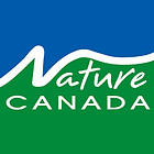 Nature Canada, white font, logo square background with blue above name and green below