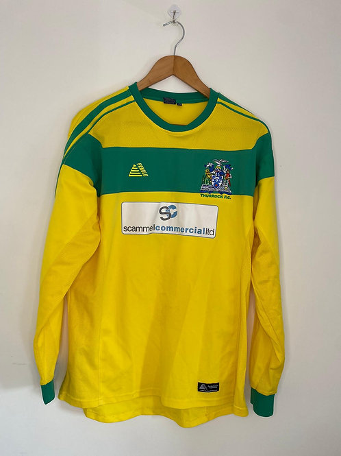 Thurrock FC Player Worn Home Shirt L #4 (Excellent)