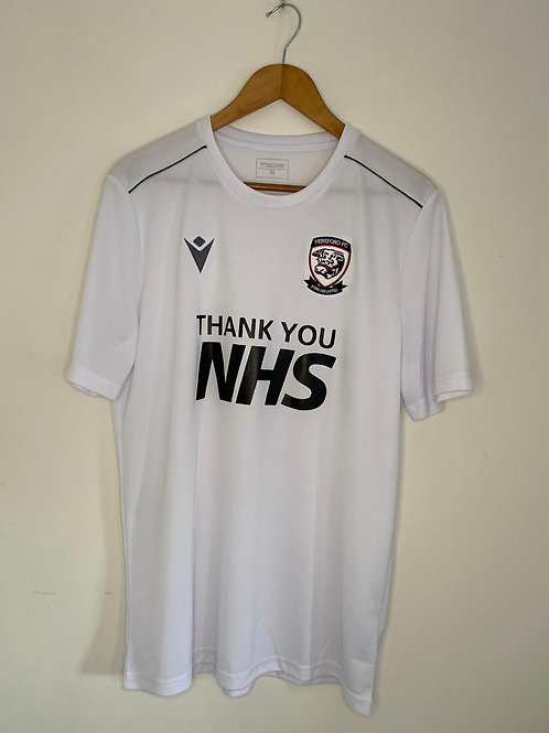 Hereford FC 'Thank You NHS' Home Shirt XL (Excellent)