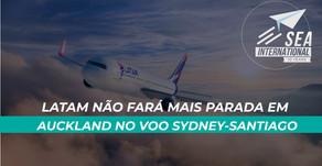 Latam não fará mais parada em Auckland no voo Sydney-Santiago