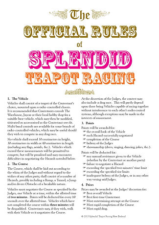 The Official Rules of Splendid Teapot Racing