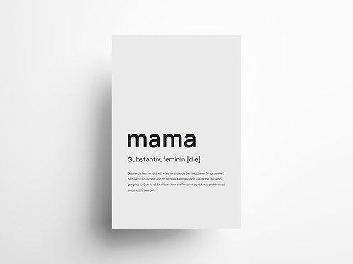 """Wandbild """"Mama"""" 2"""
