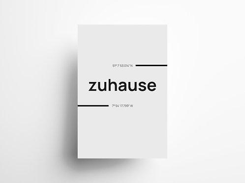 "Wandbild ""Zuhause"" 2"