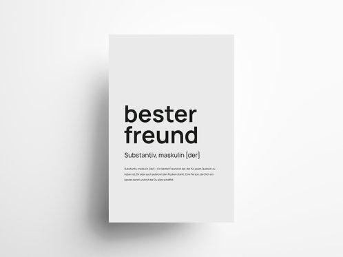 """Wandbild """"bester Freund"""" 2"""