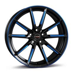 BORBET_LX_black matt spoke rim blue poli