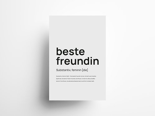 "Wandbild ""beste Freundin"""