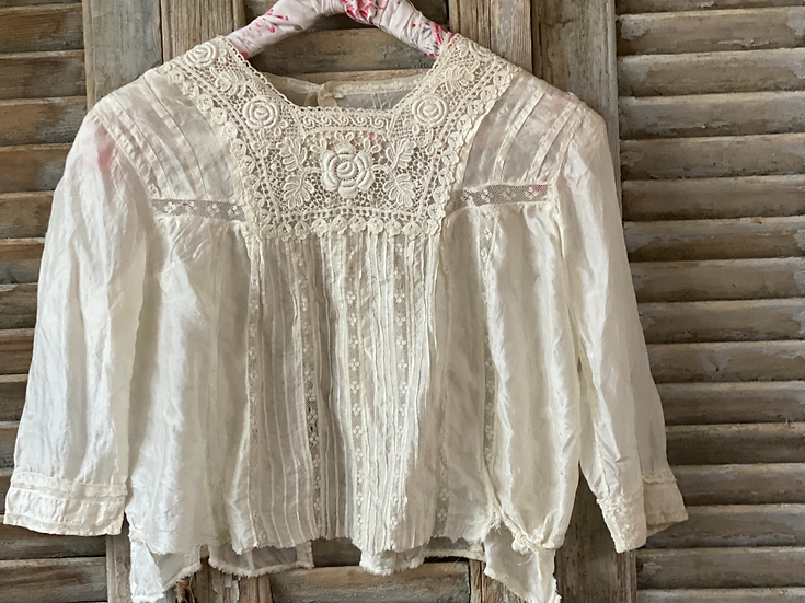 Edwardian silk blouse with beautiful detail