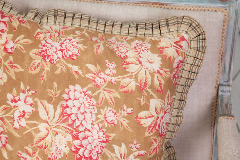 1860 French antique fabric cushion