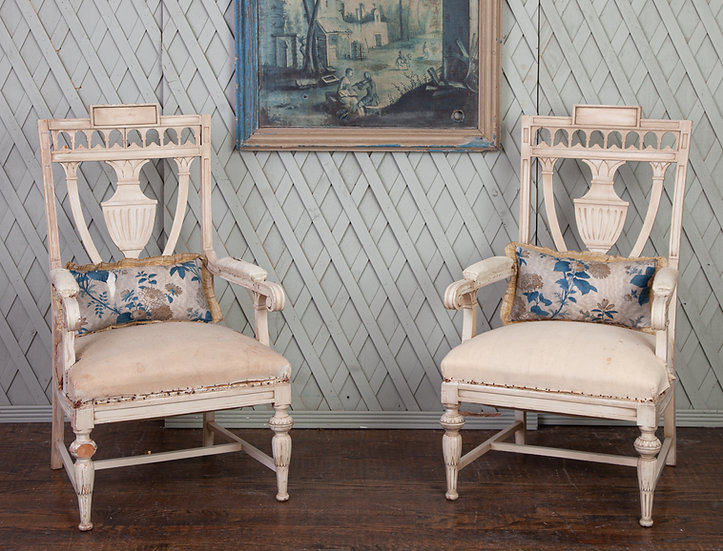 Pair of Antique Gustavian Chairs