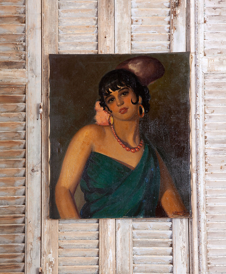 A pretty oil painting of lady