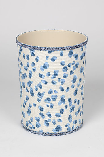 Blue and White Waste Basket
