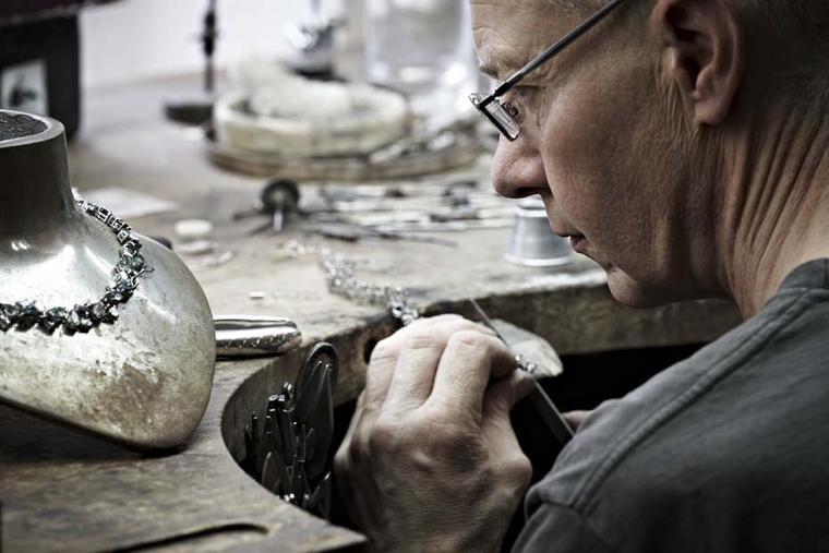 Craftsman in the Asprey in-house workshop