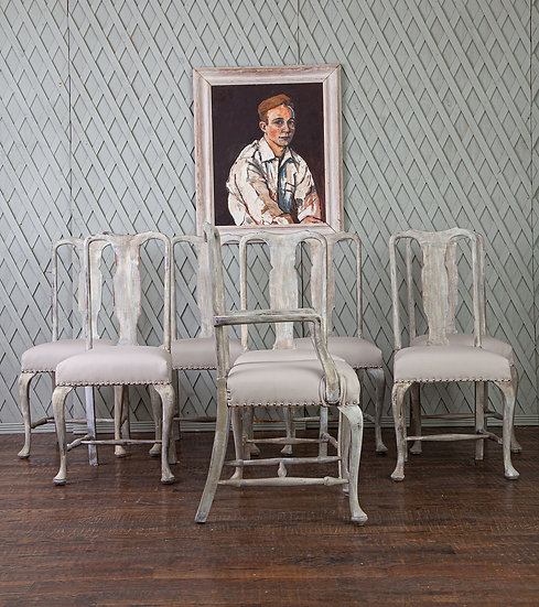 Set of 8 Antique Chairs
