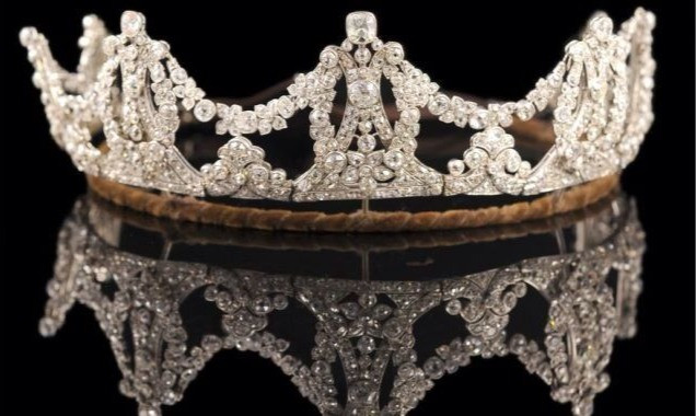 The diamond tiara I borrowed for my wedding and Madonna wore the same to Guy Richie!