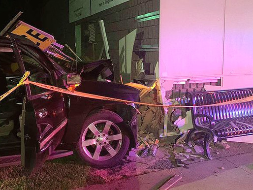 Two hospitalized after car crashes into downtown Kingsville building