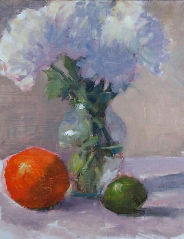 flowers with orange and lime