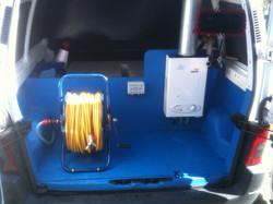 Inside our vans!