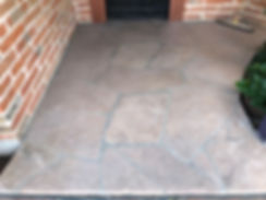 Dirty Flagstone Patio Before Cleaning In Tucson, AZ