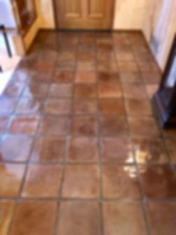 Cleaned, Sealed & Refinished Saltillo Tile & GroutTucson, Arizona