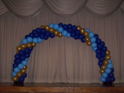 20' Blue, Pale Blue and Gold Arch
