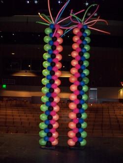 15' Neon Columns