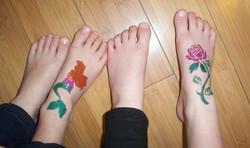 Rose and Mermaid Tattoos