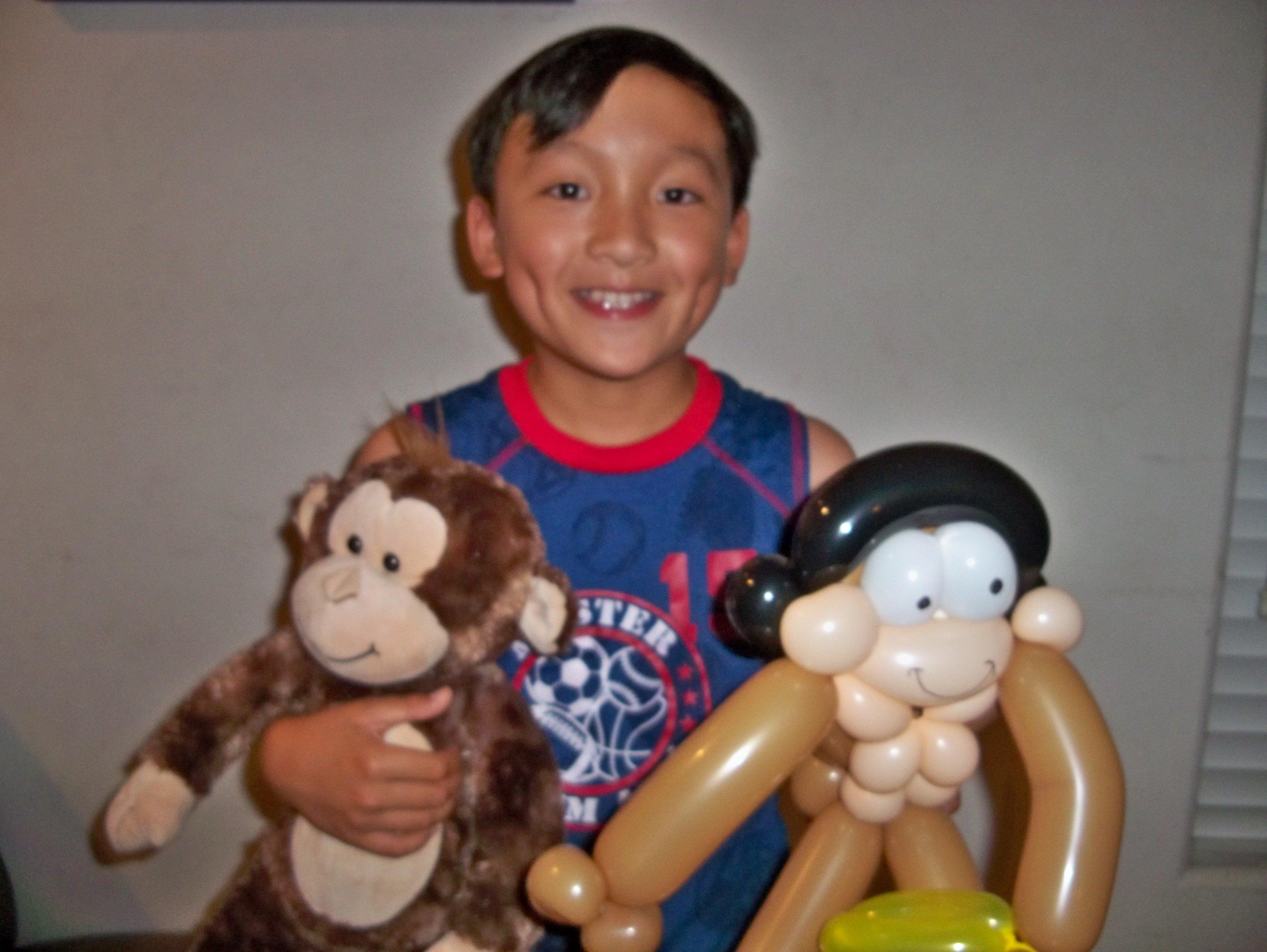 Balloon Twisted and Stuffed Monkeys