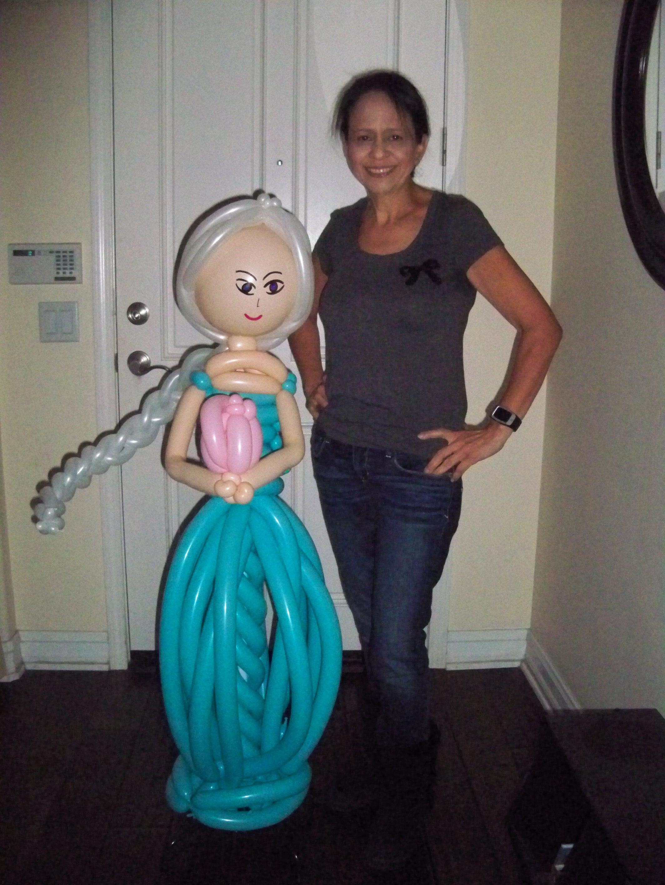 Elsa Balloon Column / Balloon Pillar