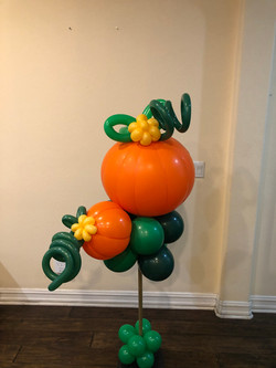 Pumpkin Balloon Decoration