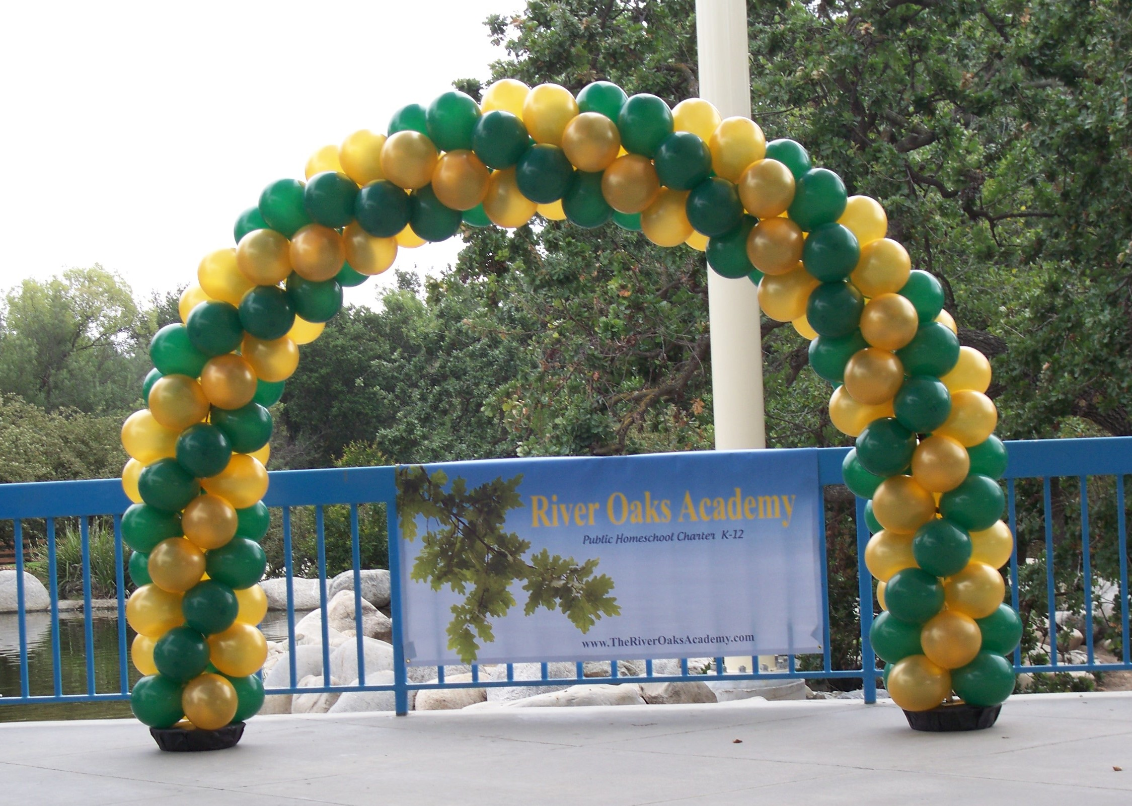 Green/Gold Spiral Balloon Arch (20')