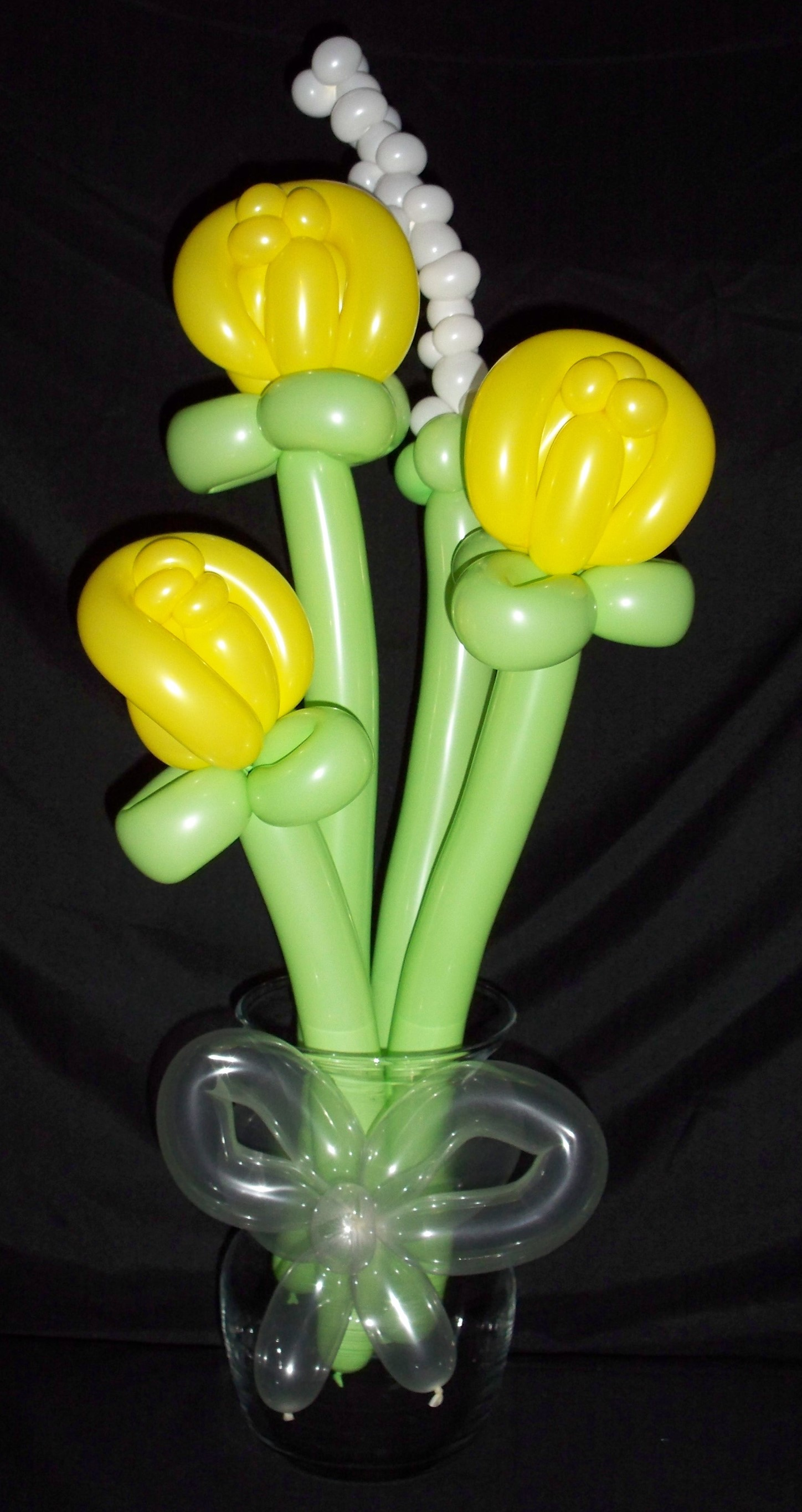 Yellow Balloon Roses - Free Delivery