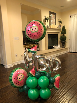 Melon Balloon Arrangement