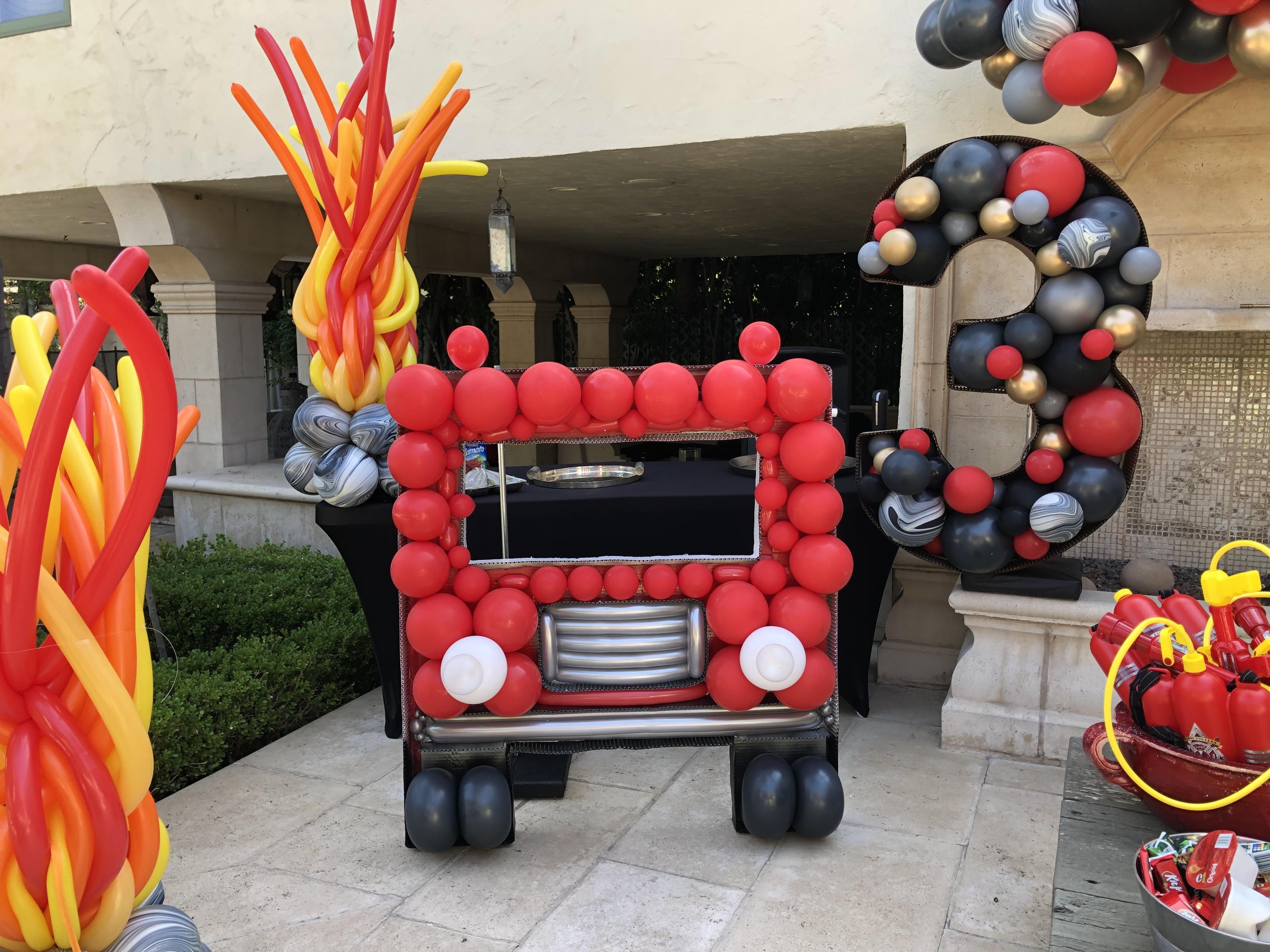 Fire Truck Mosaic