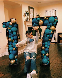 5' Tall Number Balloon Mosaic